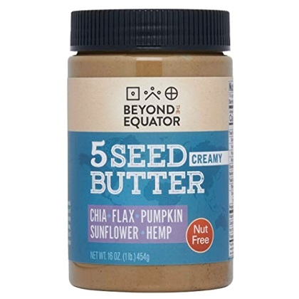 Beyond the Equator 5 Seed Butter - Nut Free, Allergy Friendly, Omega-3, Non-GMO, Keto - 16oz